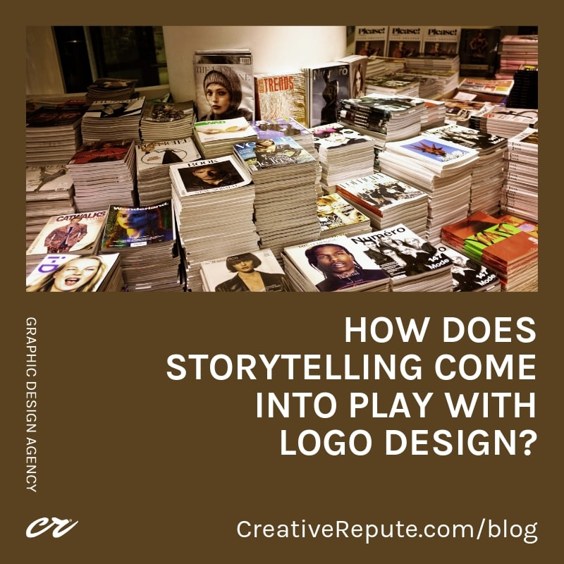 How does storytelling come into play with logo design?