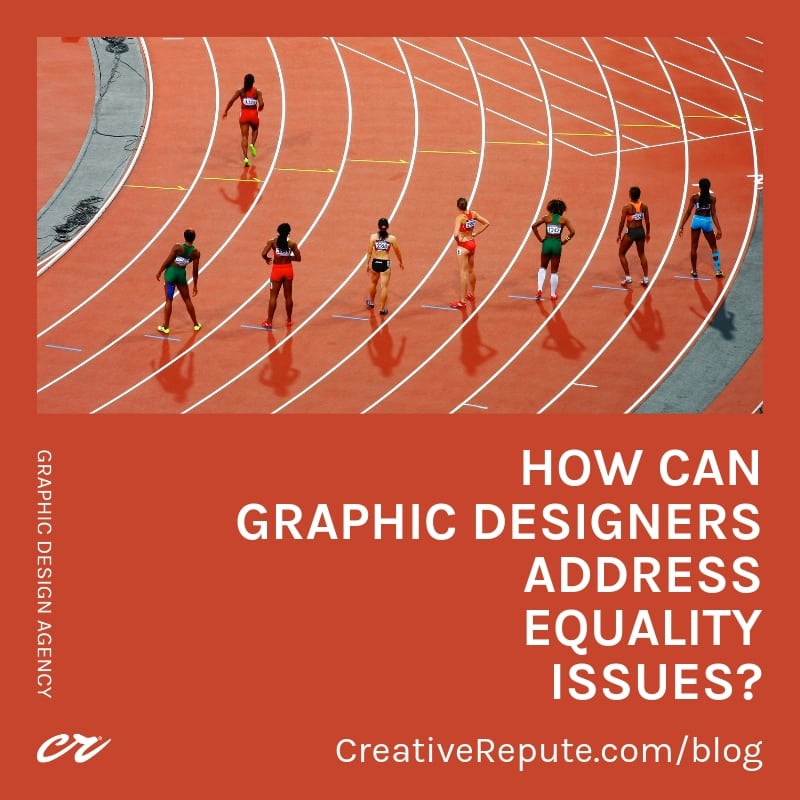 How can graphic designer address equality issues?