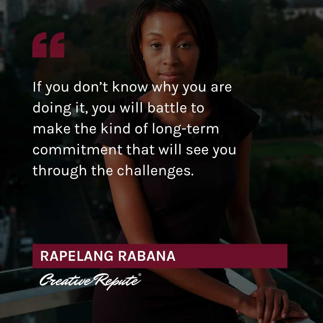 Rapelang Rabana quote