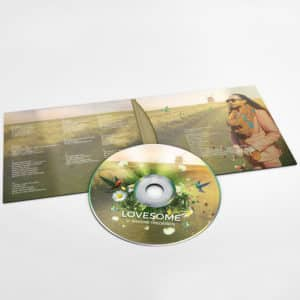 4 Panel CD Sleeve Mockup packaging design