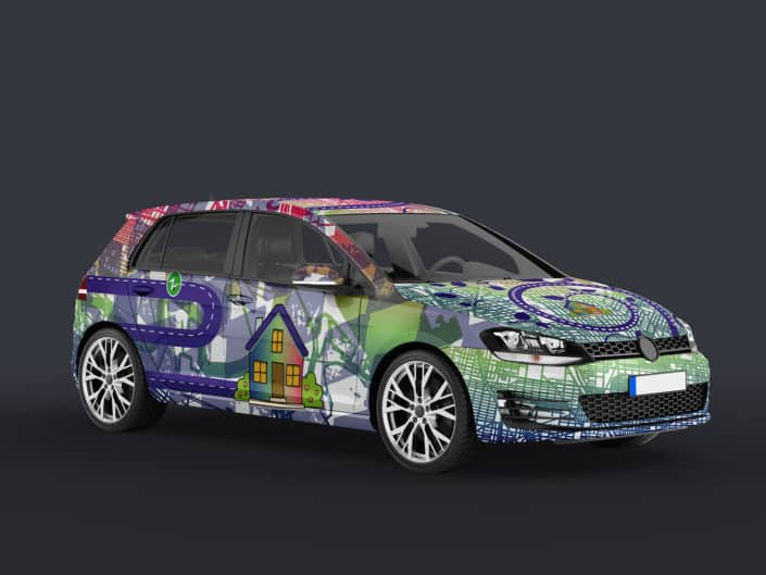 Vinyl Car Wrap Design | Zipcar