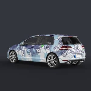 icy car vynal vinal wrap template cover students kids design zipcar traveling signage streets road artist