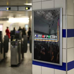 poetry signage photo photography metro subway billboard poster print place graphic design