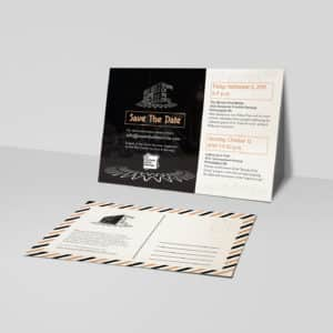 postcard retro save the date illustration mailing mail materials standard graphic design