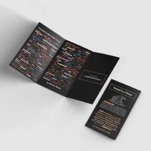 program poem herman beavers pamphlet trifold brochure design black