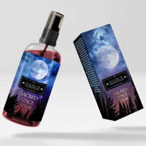 calming sacred space spray bottle box design packaging store custom unique spiritual