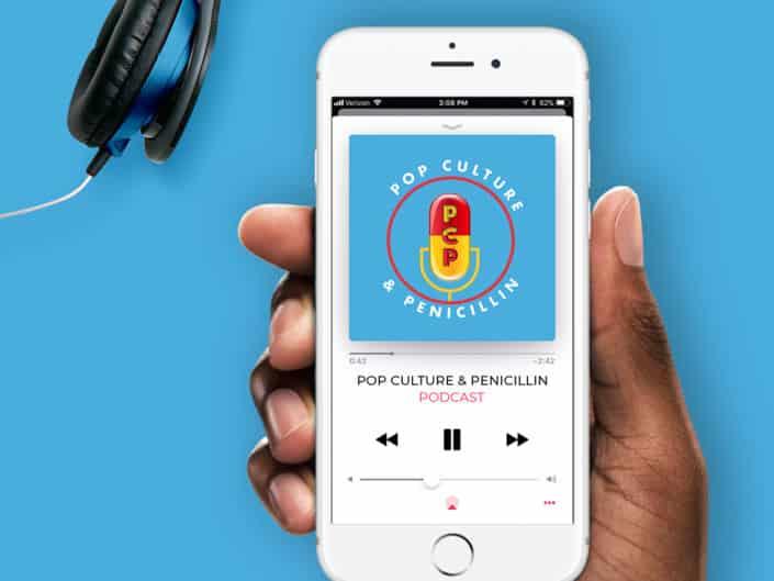 Logo Design | Pop Culture and Penicillin Podcast