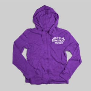hoodie ode to a different world shirt purple branding clothing