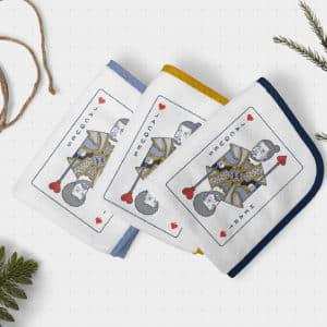 hospaltity hand towel fabric hotel service cards tarot logo branding design