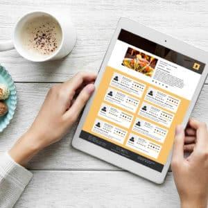 ipad pad digital cafe resturant responsive development app