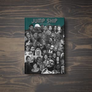 jump ship black african american book cover mockup collage art design history slave ship chap book