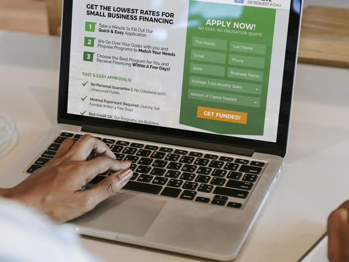 Landing Page Design | United Capital Source