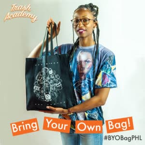 philadelphia mural arts trash academy social media campaign bring your own bag graphic design agency