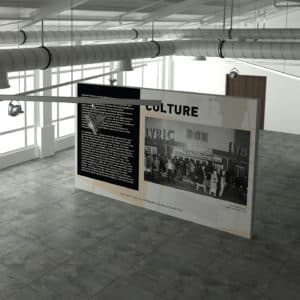 setting room curator interior design agency floorplan exhibition mockup