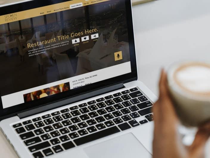 Website and Logo Design | Spoken Review