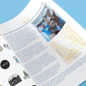 sponsorship program deck package booklet multi page pdf print layout graphic design agency
