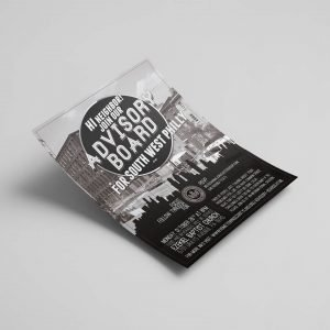advisory board philly graphic design agency flyer design anouncement marketing print philadelphia south west ezekiel baptist church rsvp save the date