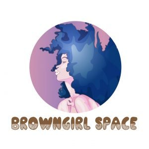 brown girl space rayna smaller purple painterly logo brand identity afro blue cool colors