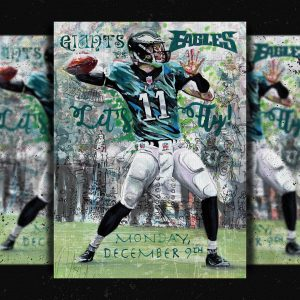 eagles gameday poster nile livingston ny giants football national give away artist painterly green graphic design illustration announcement poster banner image graphic design