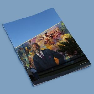 ed bradley mural west philly philadelphia graphic design agency photo photography newspaper layout template ad placement full page journalist integrity