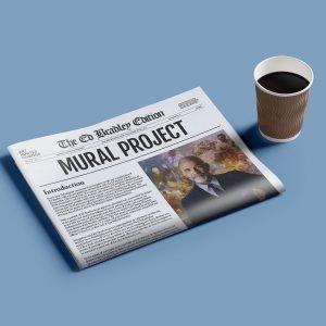 ed bradley newspaper challenged media impact relate students mural dedication coffee work press news host