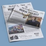ed bradley newspaper mockup graphic design agency print layout template local artist philly west news ancor report reporter memorial history