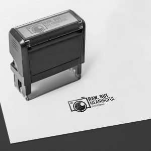 raw but meaningful logo mockup stank philly south new jersey photographyer branding photo paper stamp mark