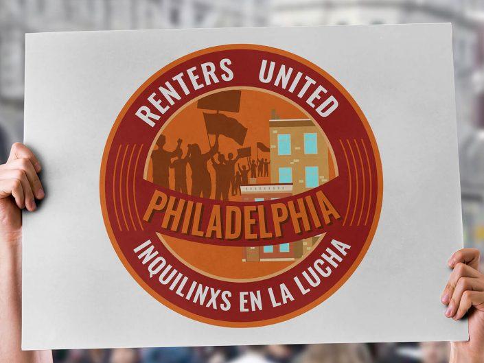 Logo Design | Renters United Philadelphia