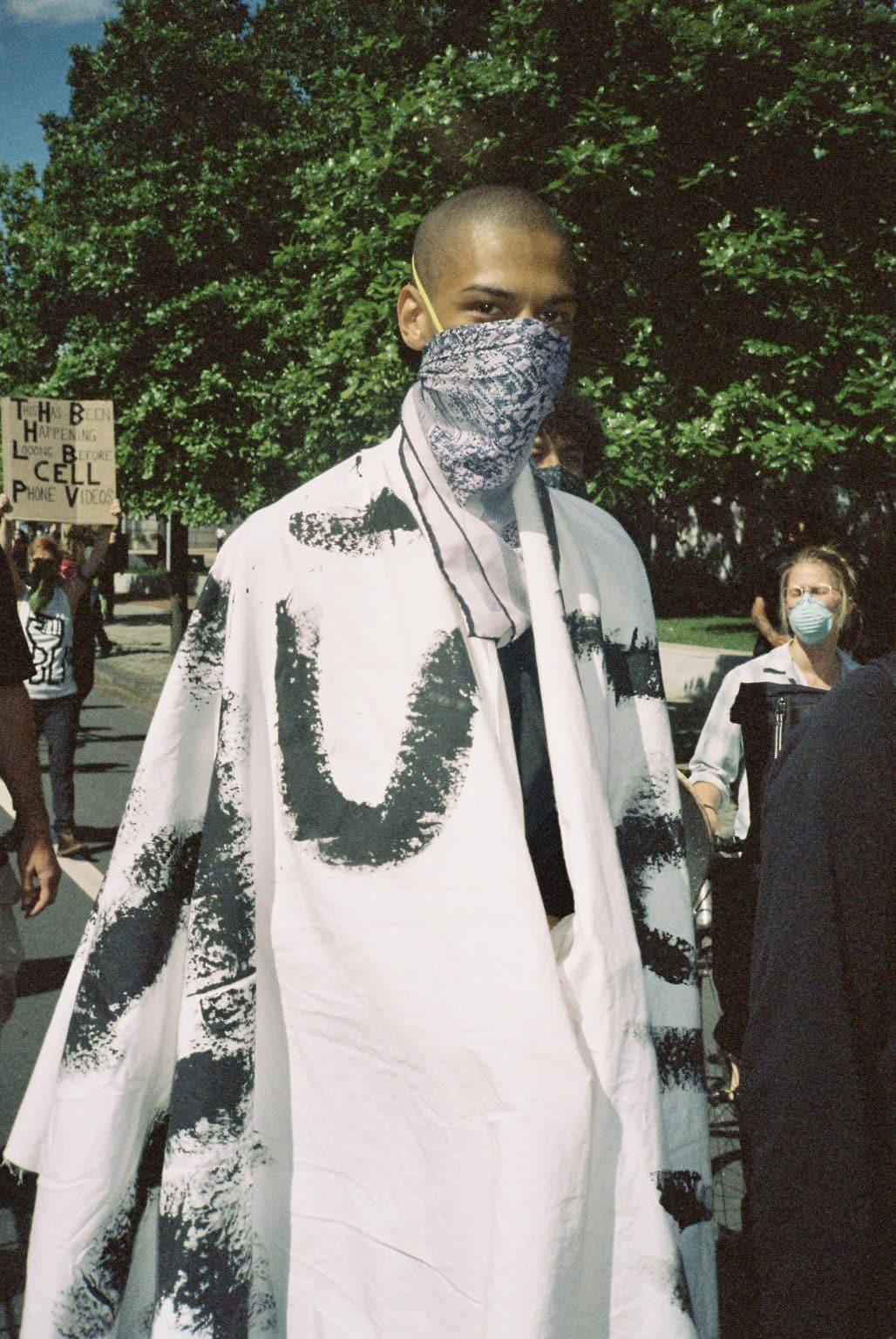 sheldon omar abba peoples film program artist activist african american man wearing a mask black lives matter george floyd protests photo philadelphia creative repute graphic design agency