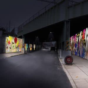 rendering mockup preview public art community project mural arts planning viaduct